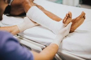 Patient with sprain at urgent care in Lodi